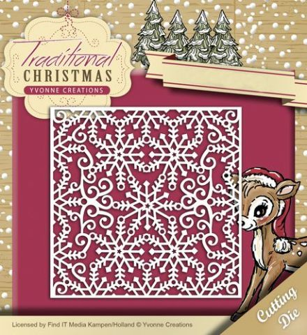 YCD10059 L ~ Traditional Christmas ~ Snowflake Frame ~ Yvonne Creations
